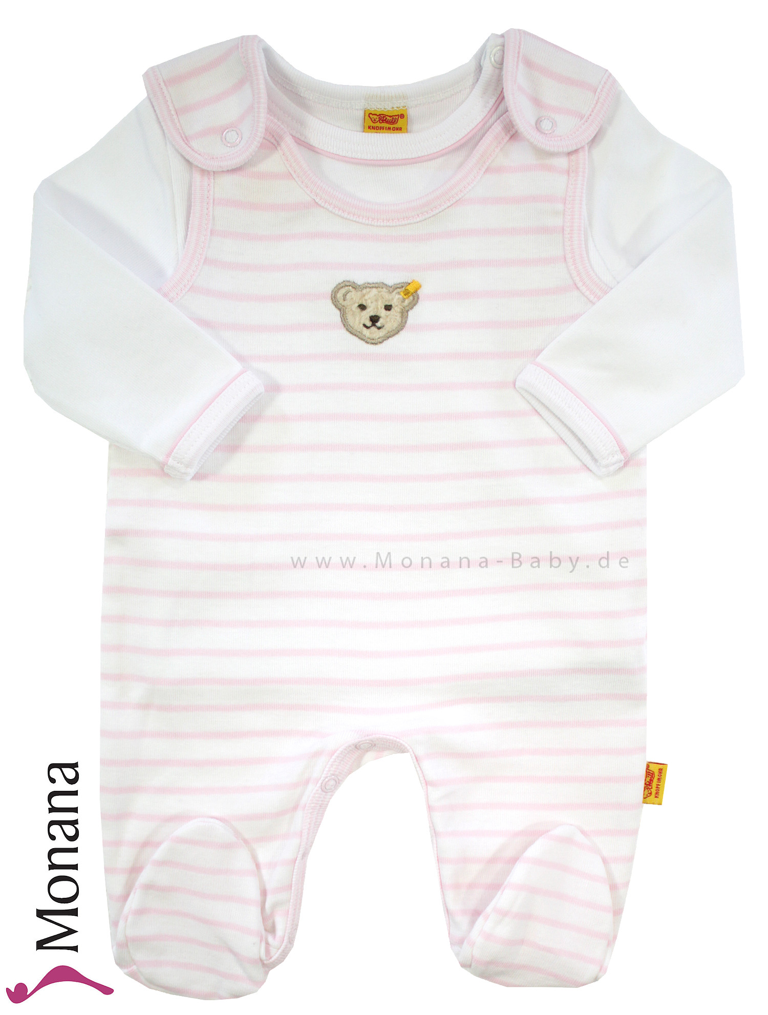 Steiff Collection Baby-Strampler & Baby-Shirt  Summer Colors rosa<br>Größe: 50