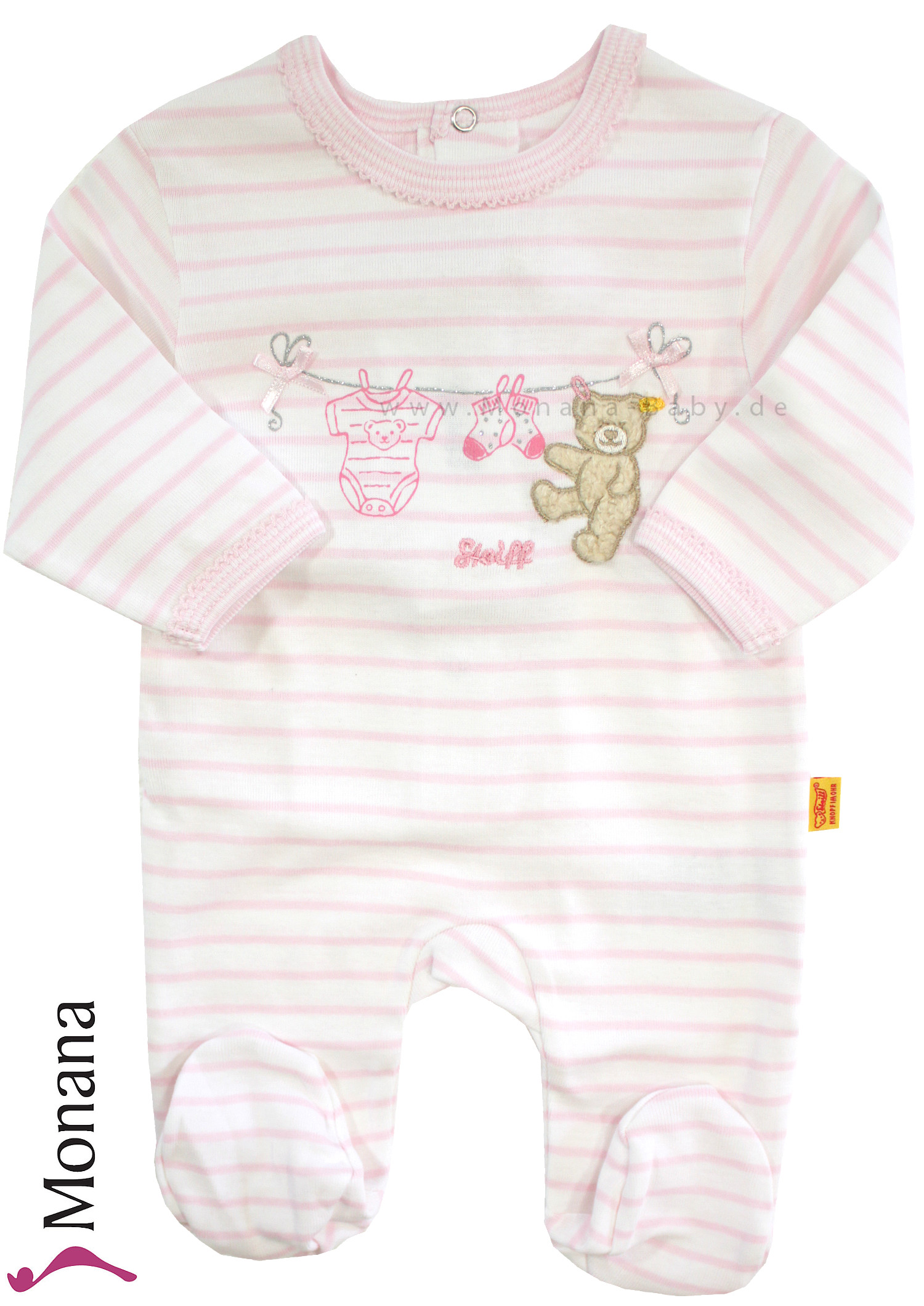 Steiff Collection Baby-Overall Summer Colors rosa<br>Größe: 68
