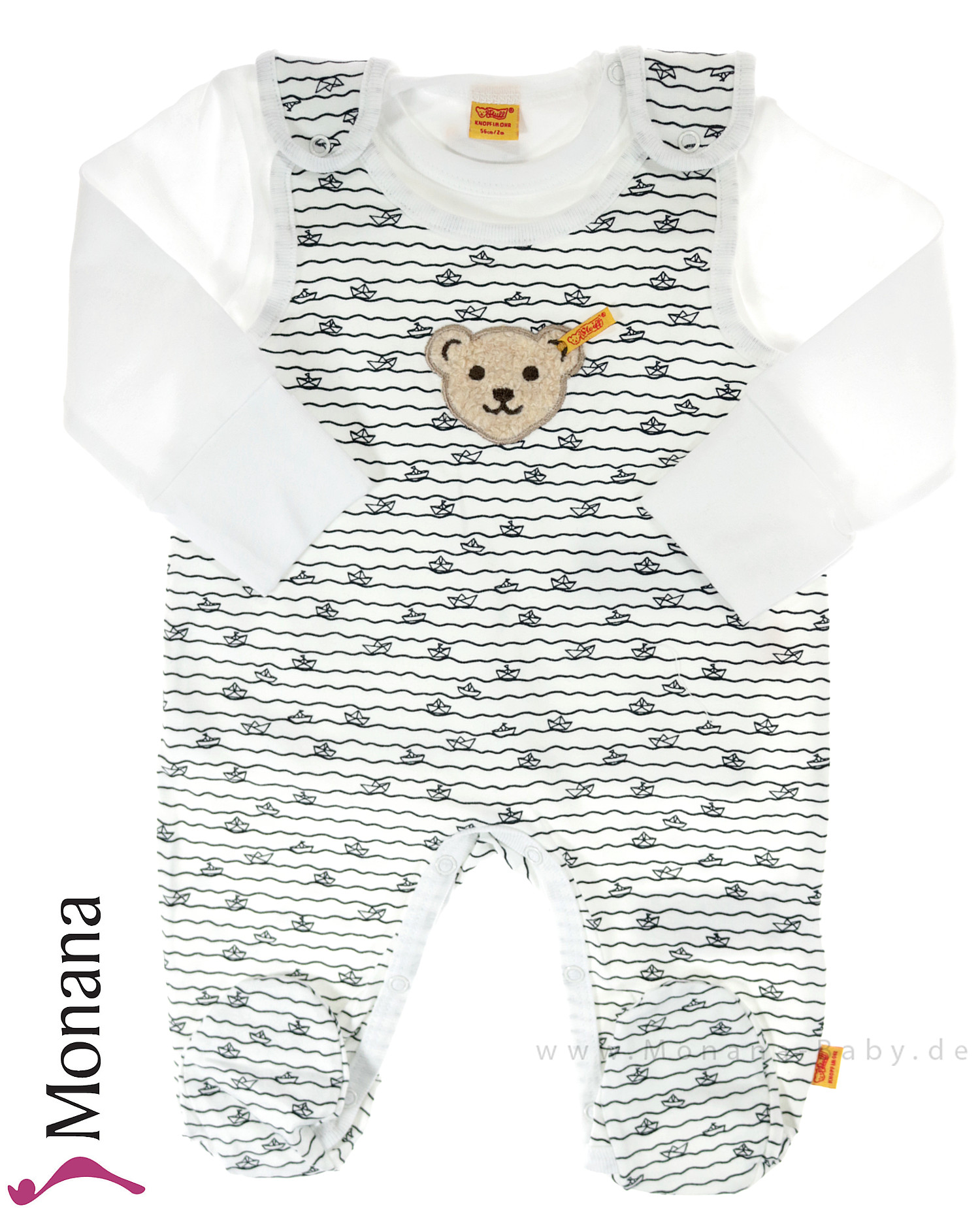 Steiff Collection Baby-Strampler & Baby-Shirt Summer Colors<br>Größe: 62, 68, 74