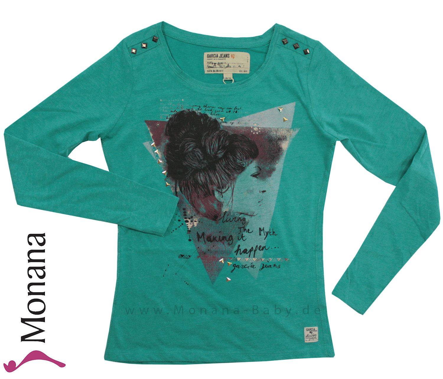 Garcia Shirt Bright Peacock Girl<br>Größe: 152/158, 164/170